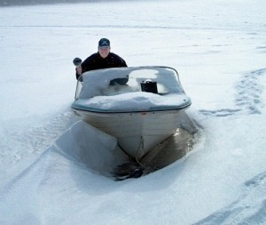 You probably won't be using your boat during the winter months if you live in a colder climate!